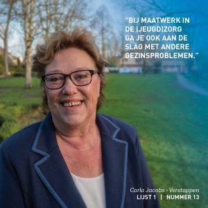 Carla Jacobs-Verstappen, Zorg, Participatie, Weert, verkiezingen, lokaal, verkiezingsprogramma,
